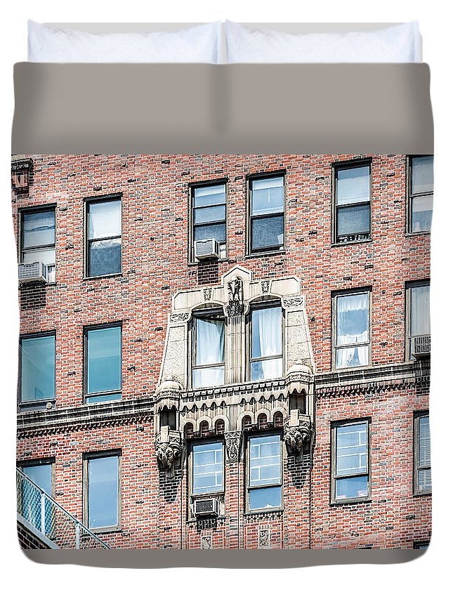New York City Duvet Cover featuring the photograph 444 Cpw by Kenneth Grant