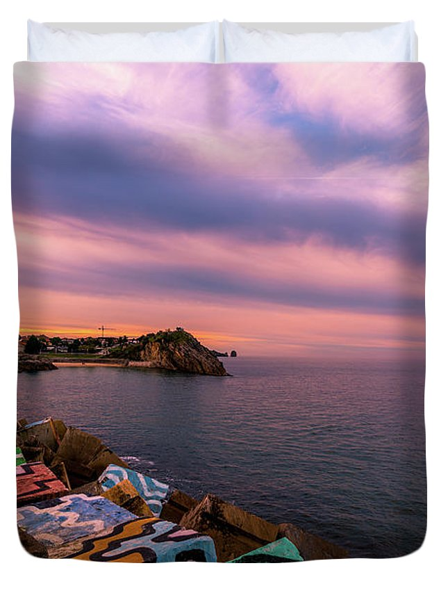 Spain Duvet Cover featuring the photograph A Lot To See And Do by Ric Schafer