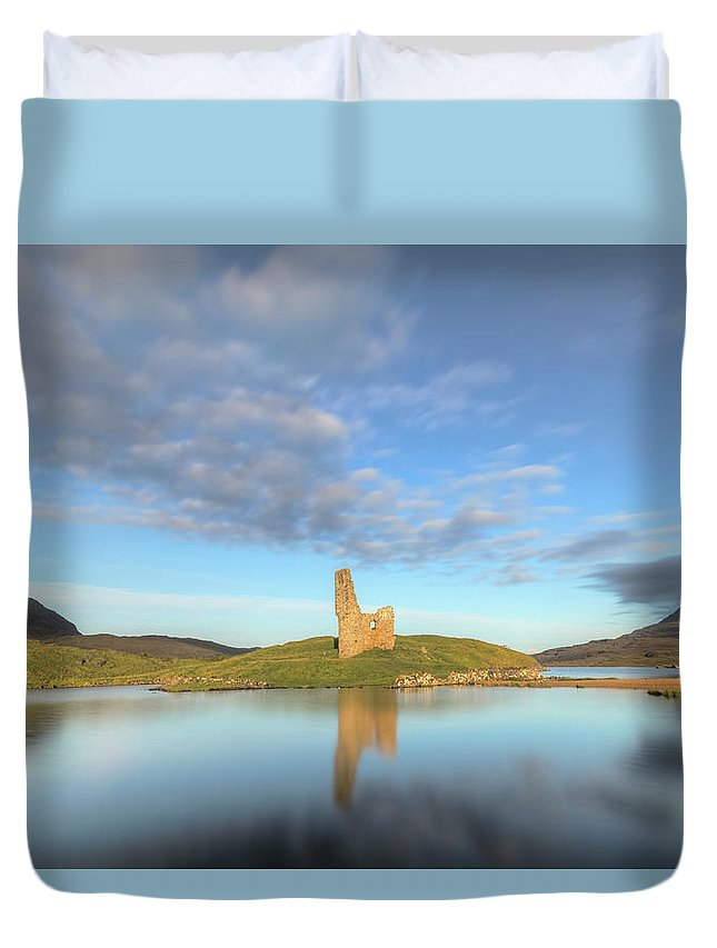 Ardvreck Castle Duvet Cover featuring the photograph Ardvreck Castle - Scotland by Joana Kruse