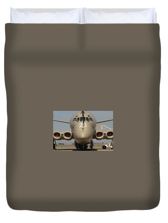 Aircraft Duvet Cover featuring the digital art Aircraft by Dorothy Binder