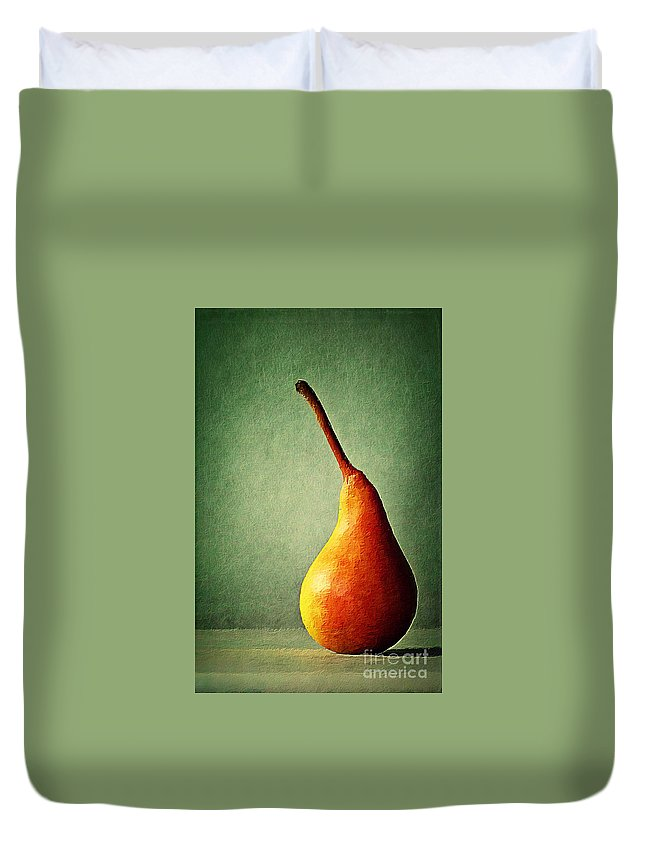 Pear Duvet Cover featuring the digital art Alone by Binka Kirova