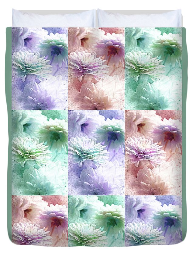 Asters Duvet Cover featuring the photograph Asters by Lali Kacharava