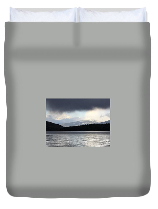 Clouds Duvet Cover featuring the photograph Balance In Nature by Carol Groenen