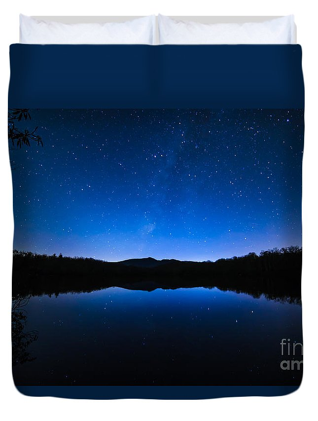 Milky Way Duvet Cover featuring the photograph Blue Betsy by Robert Loe