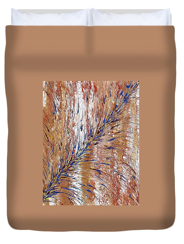 Blue Streak Duvet Cover featuring the painting Blue Streak by Pat Purdy