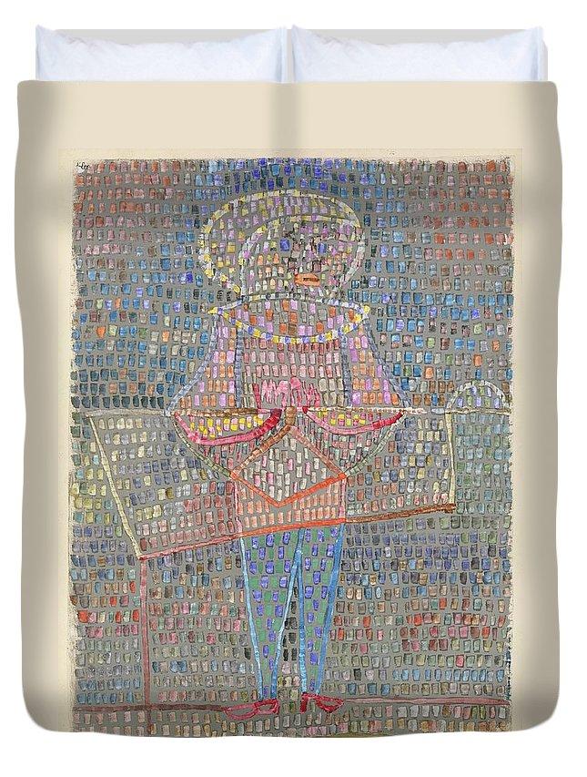Paul Klee Boy In Fancy Dress Duvet Cover featuring the painting Boy In Fancy Dress by Paul Klee