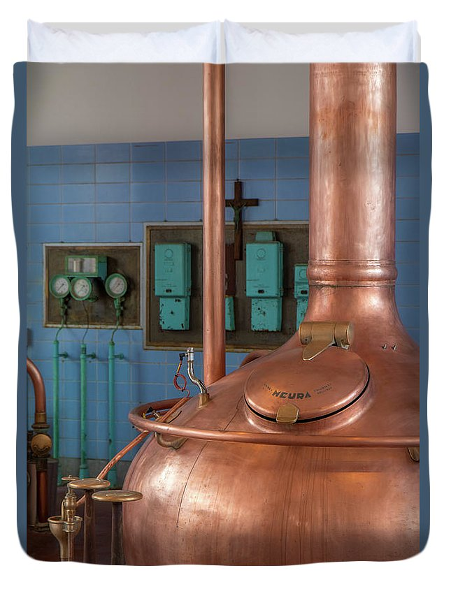 Beer Duvet Cover featuring the photograph Brewhouse by Brothers Beerens