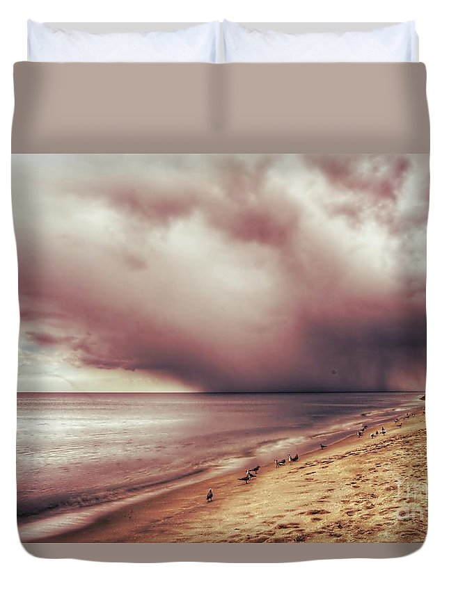 Landscape Duvet Cover featuring the photograph Brewing Storm by Glenn Forman