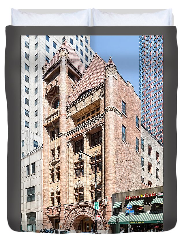 1892 Duvet Cover featuring the photograph Brooklyn Fire Department Hq by Kenneth Grant