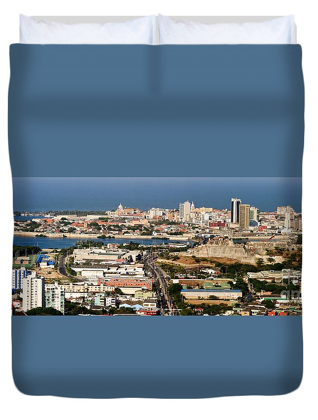 Cartegena Duvet Cover featuring the photograph Cartegena Colombia by Thomas Marchessault