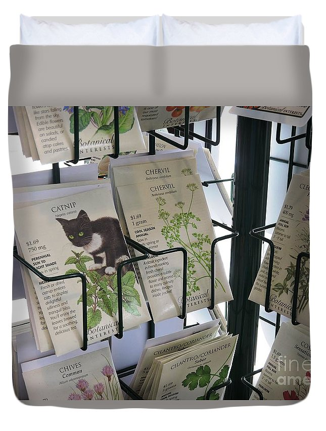 Catnip Duvet Cover featuring the photograph Catnip by Beth Williams