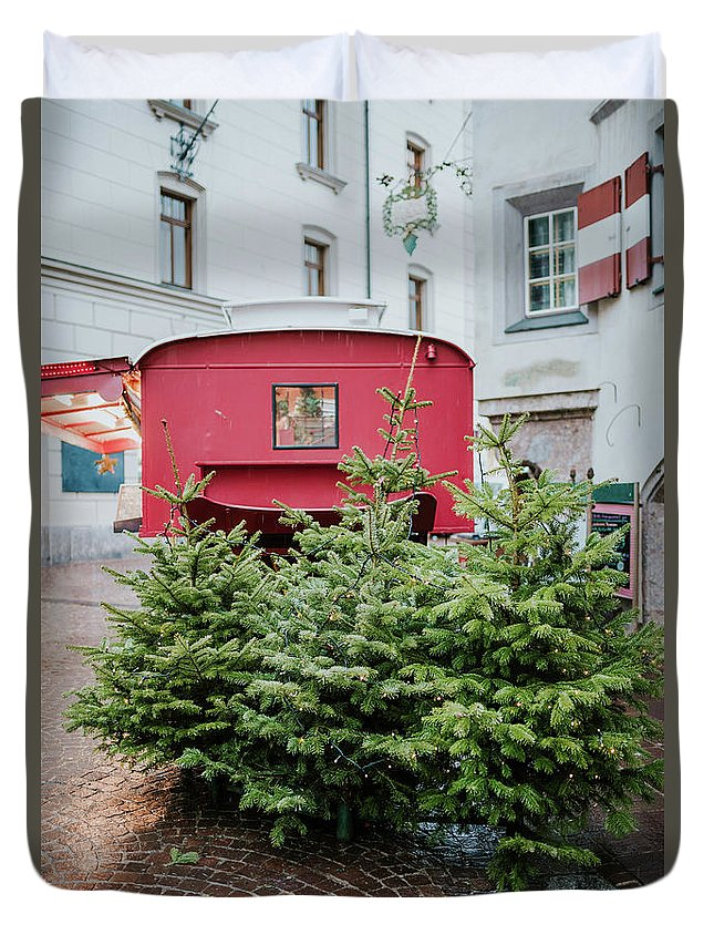 Outdoor Duvet Cover featuring the photograph Christmas Time by Viktor Pravdica