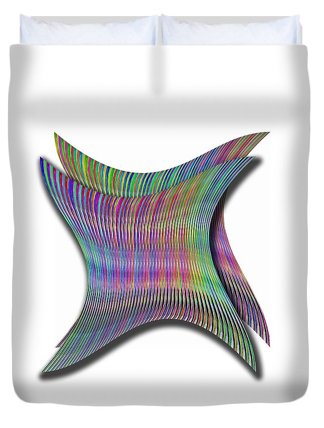 Cinetic Duvet Cover featuring the digital art Cinetic Art by Galeria Trompiz