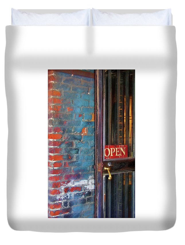 Store Duvet Cover featuring the photograph Come On In by JAMART Photography