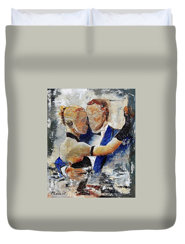 Dance Duvet Cover featuring the painting Dancing Tango by Pol Ledent