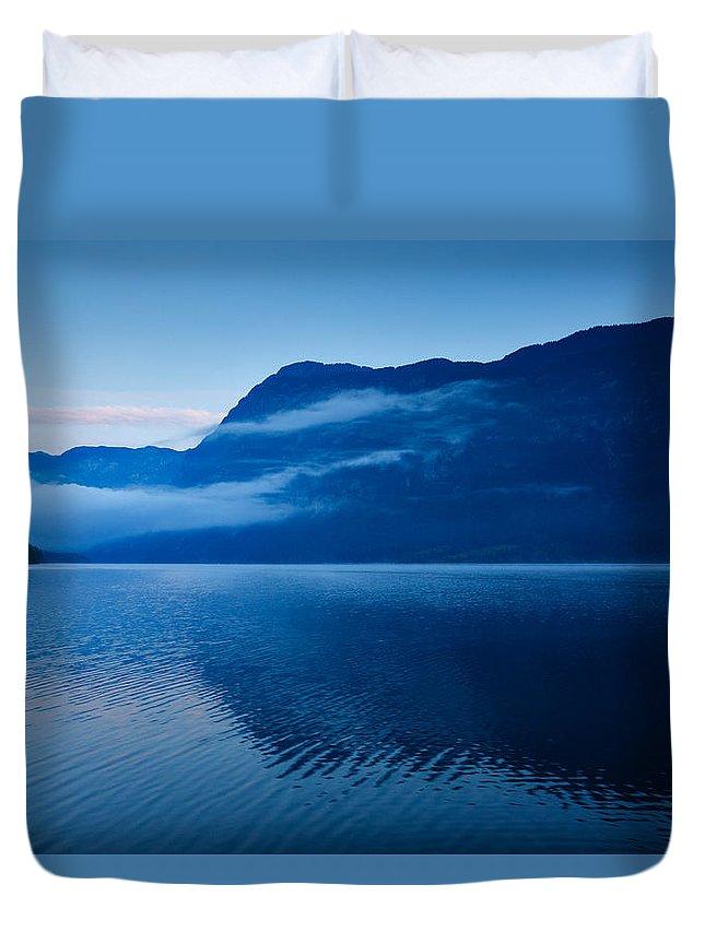 Bohinj Duvet Cover featuring the photograph Dawn At Lake Bohinj In Slovenia by Ian Middleton