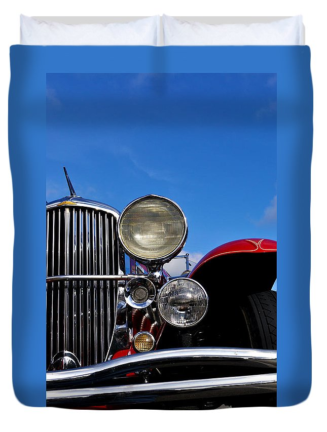 Vintage Duvet Cover featuring the photograph Duesenberg by Tim Nyberg