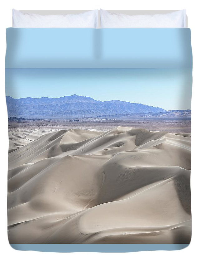 Aerial Shots Duvet Cover featuring the photograph Dumont Dunes 2 by Jim Thompson