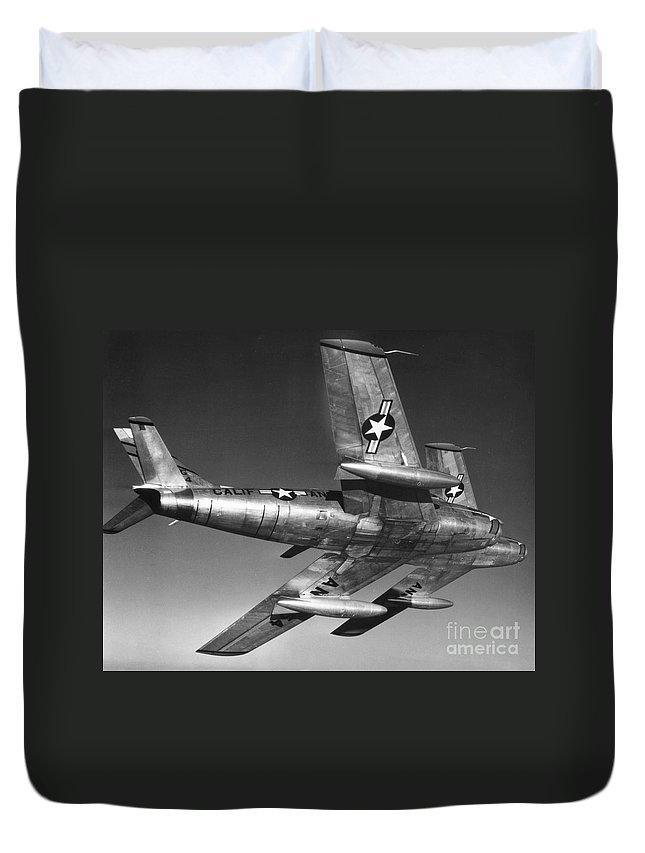 20th Century Duvet Cover featuring the photograph F-86 Jet Fighter Plane by Granger