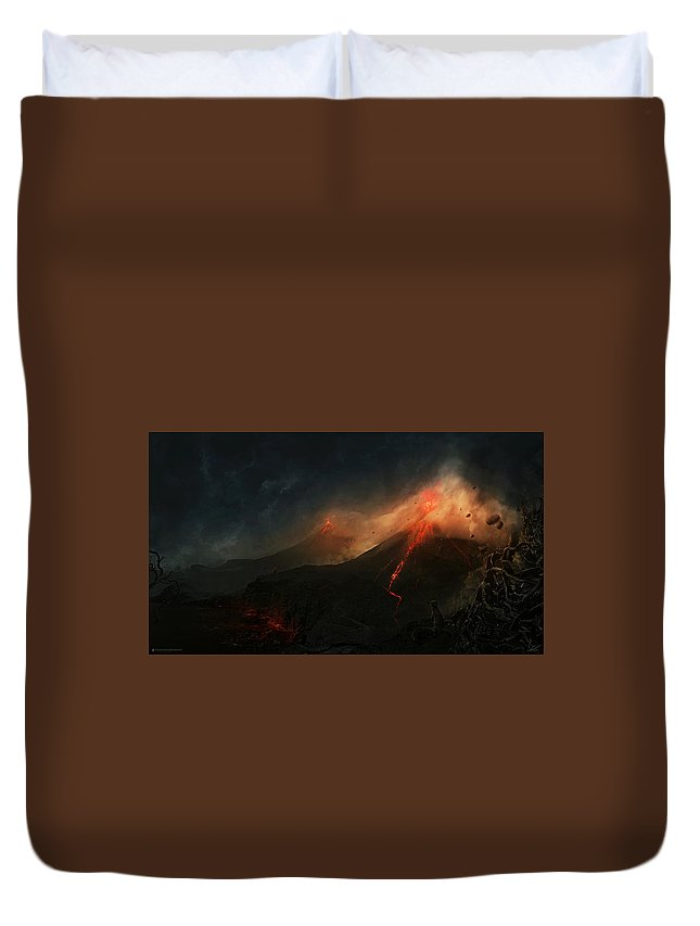 Fantasy Duvet Cover featuring the digital art Fantasy by Bert Mailer