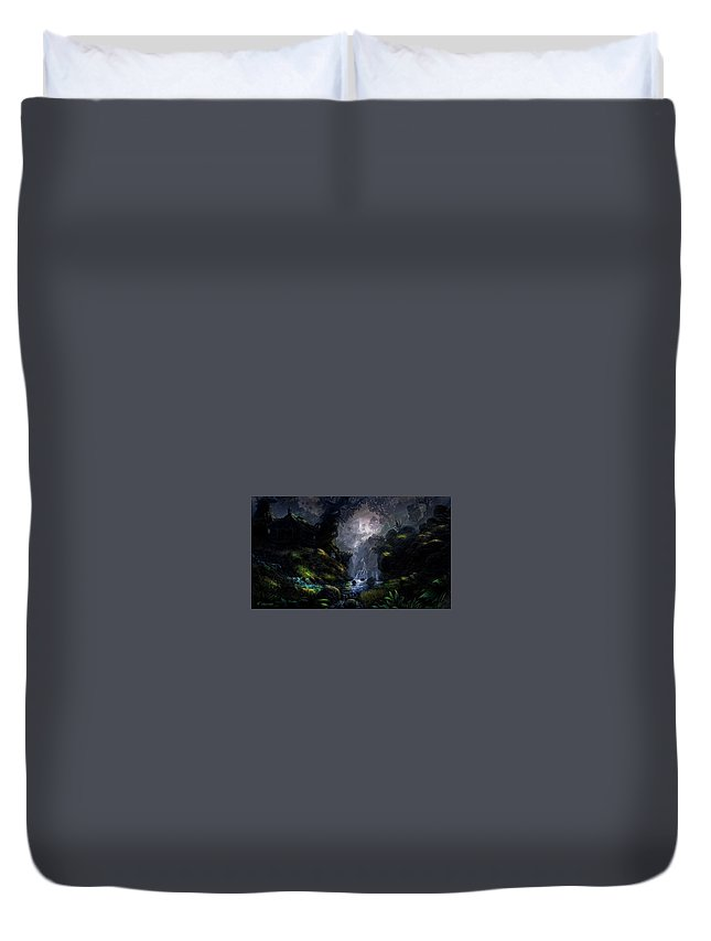 Fantasy Duvet Cover featuring the digital art Fantasy by Dorothy Binder