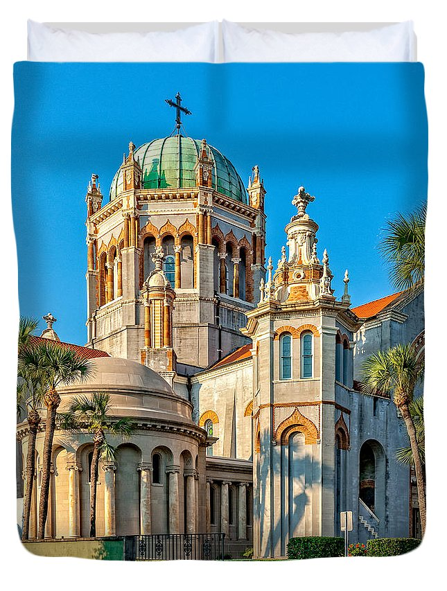 Structure Duvet Cover featuring the photograph Flagler Memorial Presbyterian Church 3 by Christopher Holmes