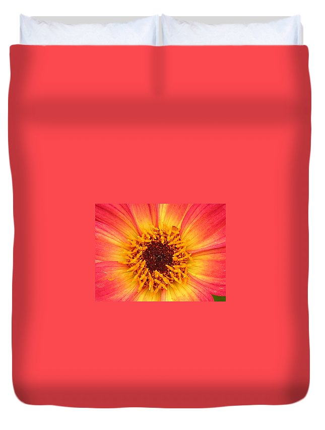 Flower Duvet Cover featuring the photograph Flower by Diane Greco-Lesser