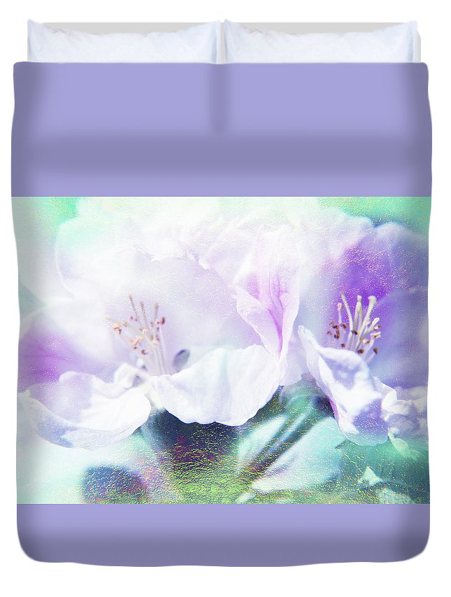 Flower Duvet Cover featuring the photograph Flowering by Lali Kacharava