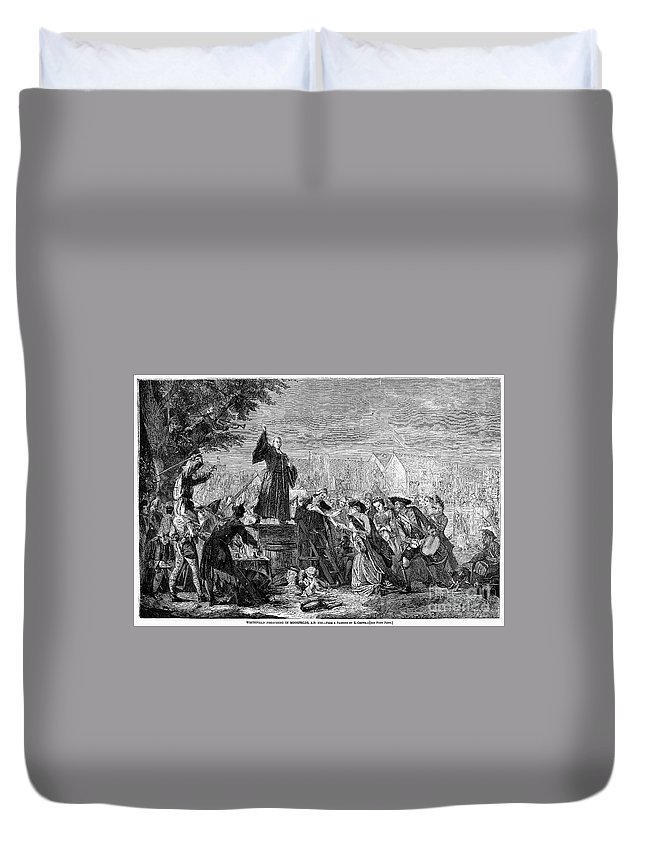 1742 Duvet Cover featuring the photograph George Whitefield by Granger