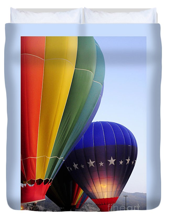 Clay Duvet Cover featuring the photograph Glowing by Clayton Bruster