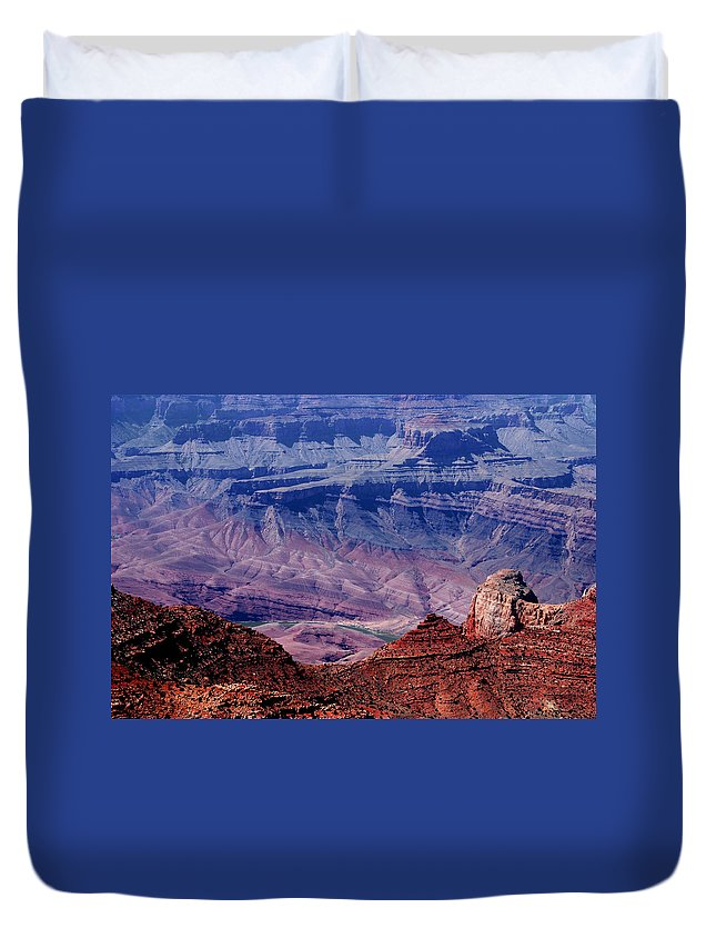 Grand Canyon Duvet Cover featuring the photograph Grand Canyon View by Susanne Van Hulst