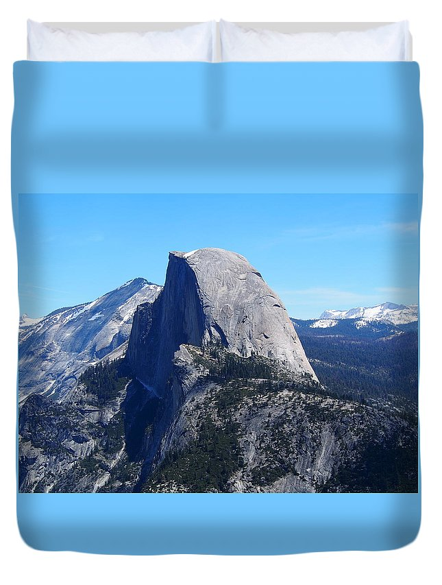 Half Duvet Cover featuring the photograph Half Dome - Yosemite by Matt Collins