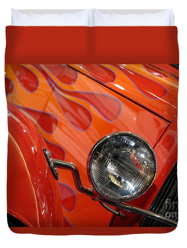 Hot Rod Duvet Cover featuring the photograph Hot Rod Ford Coupe 1932 by Oleksiy Maksymenko