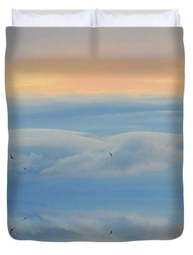Abstract Duvet Cover featuring the digital art In Flight Two by Lyle Crump