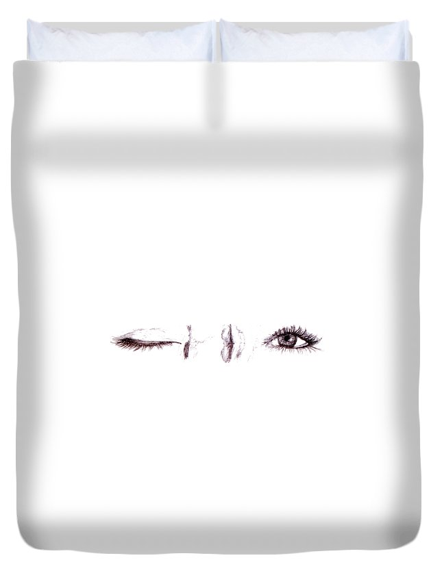 T-shirts Duvet Cover featuring the digital art In The Blink Of An Eye - Clothing/apparel - Accessories by Ingrid Van Amsterdam