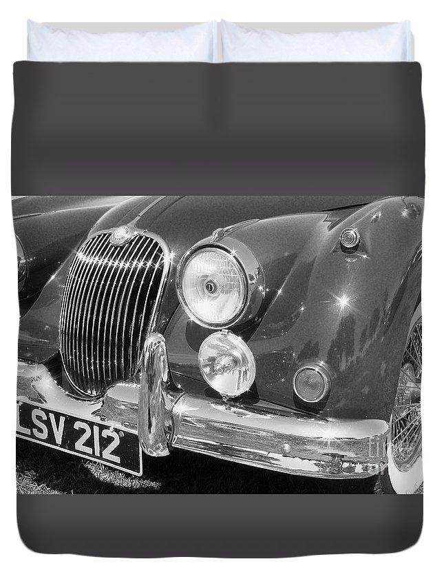 Jaguar Duvet Cover featuring the photograph Jaguar Xk Series by Neil Zimmerman