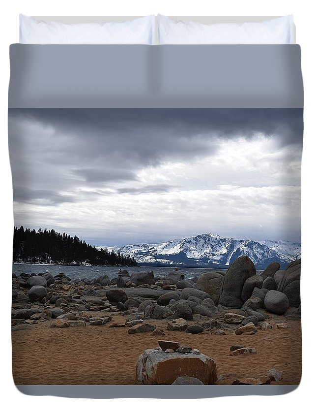 Duvet Cover featuring the photograph Lake Tahoe by Christina McNee-Geiger