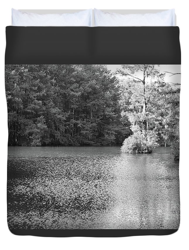 Lake Duvet Cover featuring the photograph Lake View by Marc Watkins