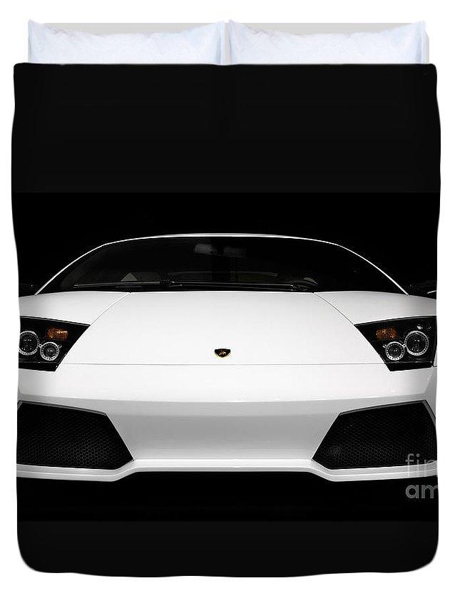 Lamborghini Duvet Cover featuring the photograph Lamborghini Murcielago Lp640 Coupe by Oleksiy Maksymenko