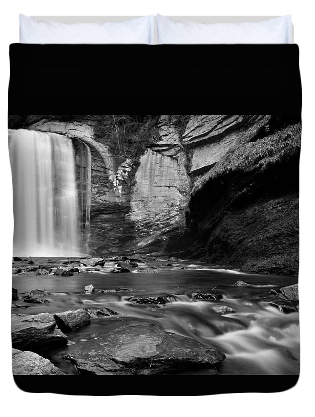 Waterfalls Duvet Cover featuring the photograph Looking Glass Falls by Dennis Nelson