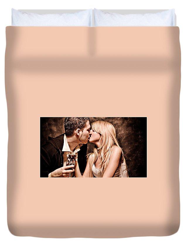 Love Duvet Cover featuring the digital art Love by Bert Mailer