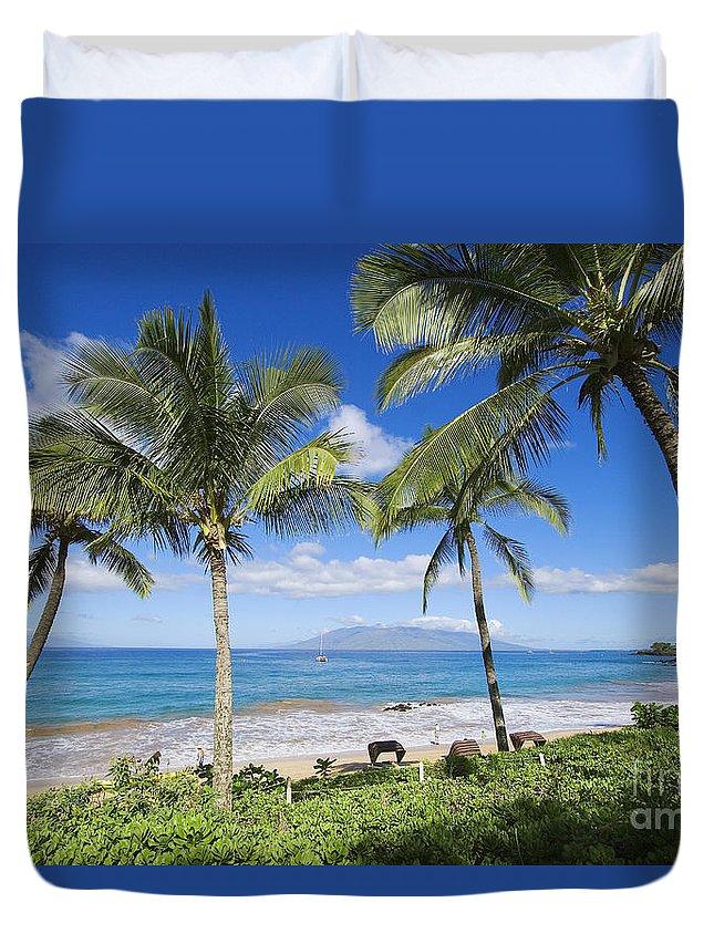 Beach Duvet Cover featuring the photograph Makena, Maluaka Beach by Ron Dahlquist - Printscapes