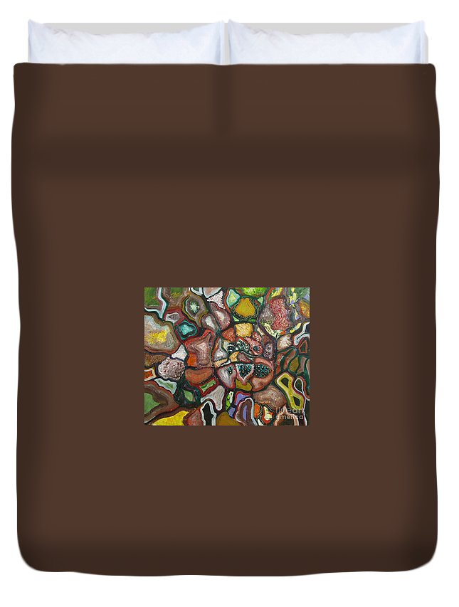 Abstract Paintings Paintings Abstract Art Paintings Duvet Cover featuring the painting Mindscape by Seon-Jeong Kim