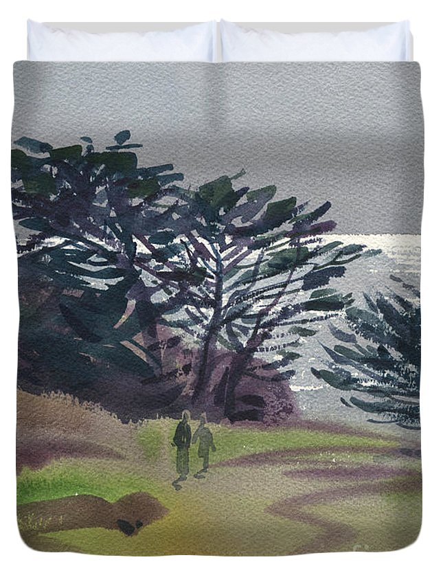 Plein Air Duvet Cover featuring the painting Miramonte Point 1 by Donald Maier