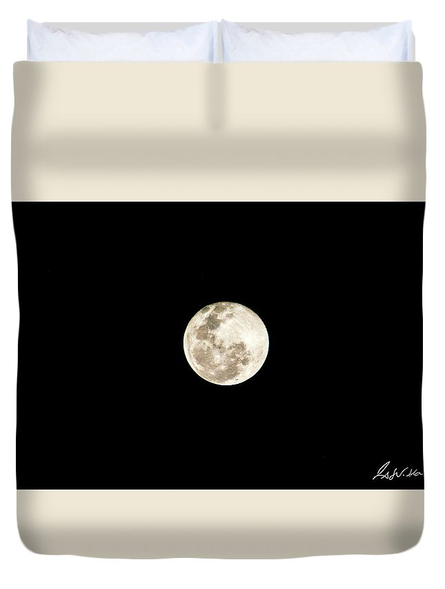 Full Moon Duvet Cover featuring the photograph Moon by Fabio Seda