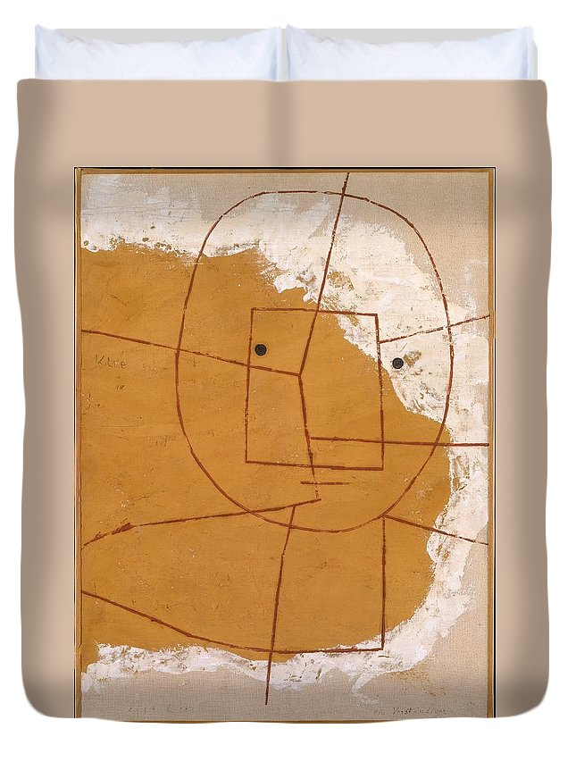 Paul Klee One Who Understands Duvet Cover featuring the painting One Who Understands by Paul Klee