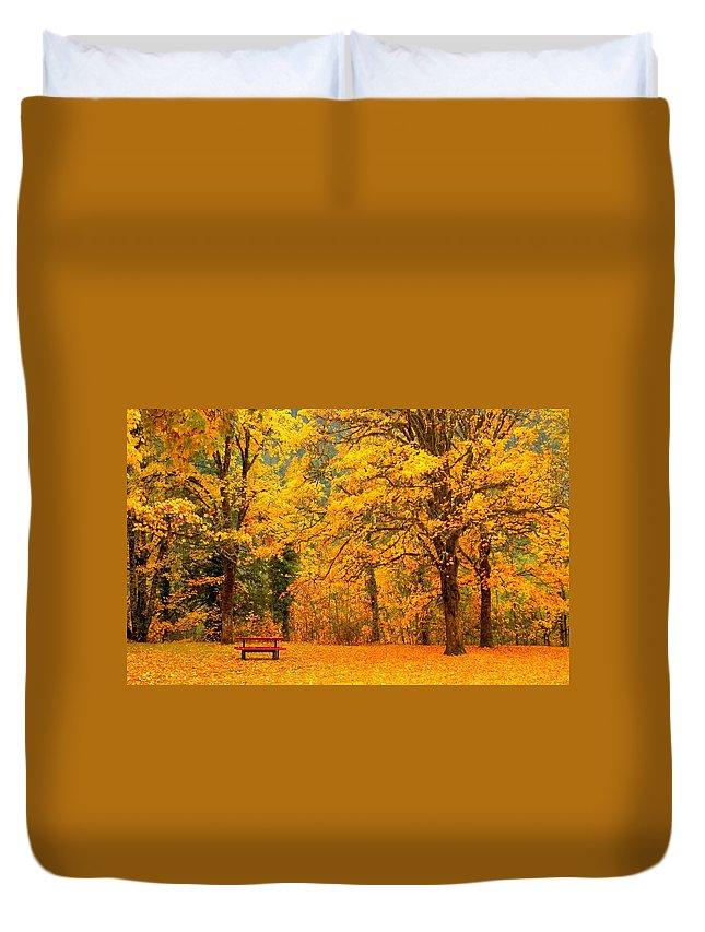 Park Duvet Cover featuring the digital art Park by Bert Mailer