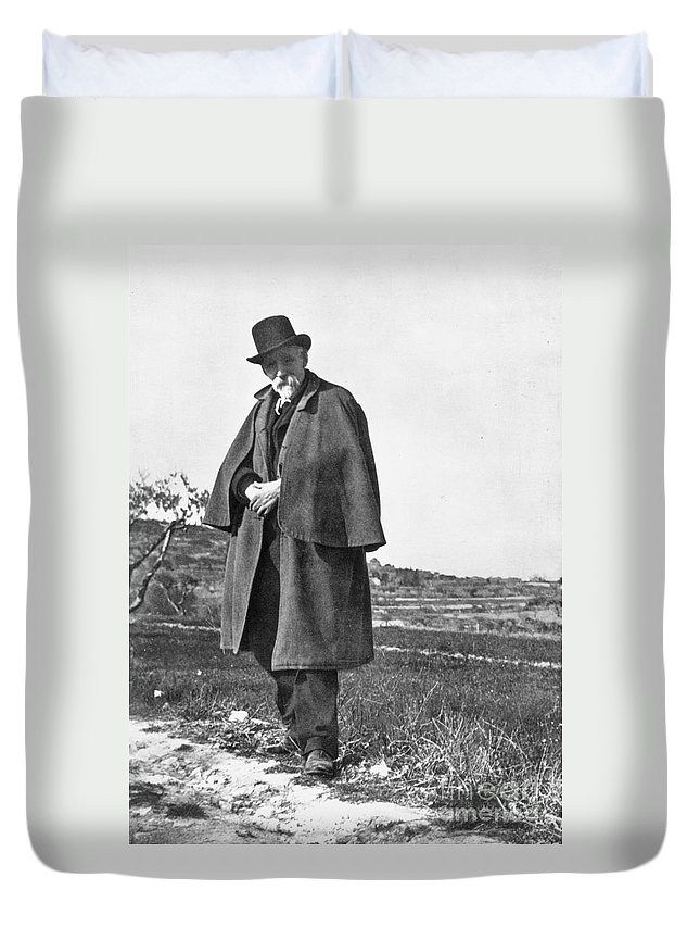 19th Century Duvet Cover featuring the photograph Paul Cezanne (1839-1906) by Granger