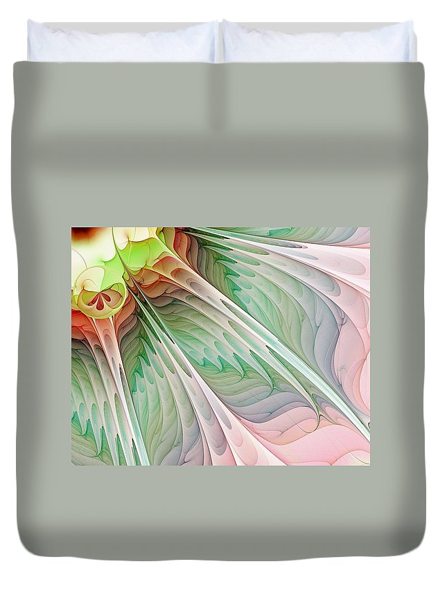 Digital Art Duvet Cover featuring the digital art Petals by Amanda Moore