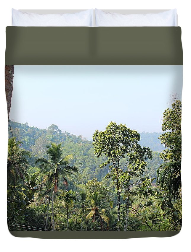 Greeneary Duvet Cover featuring the photograph Photo by Manoj John